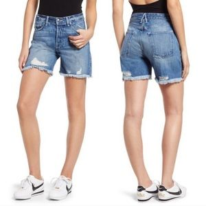 Good American high rise distressed shorts  8 29
